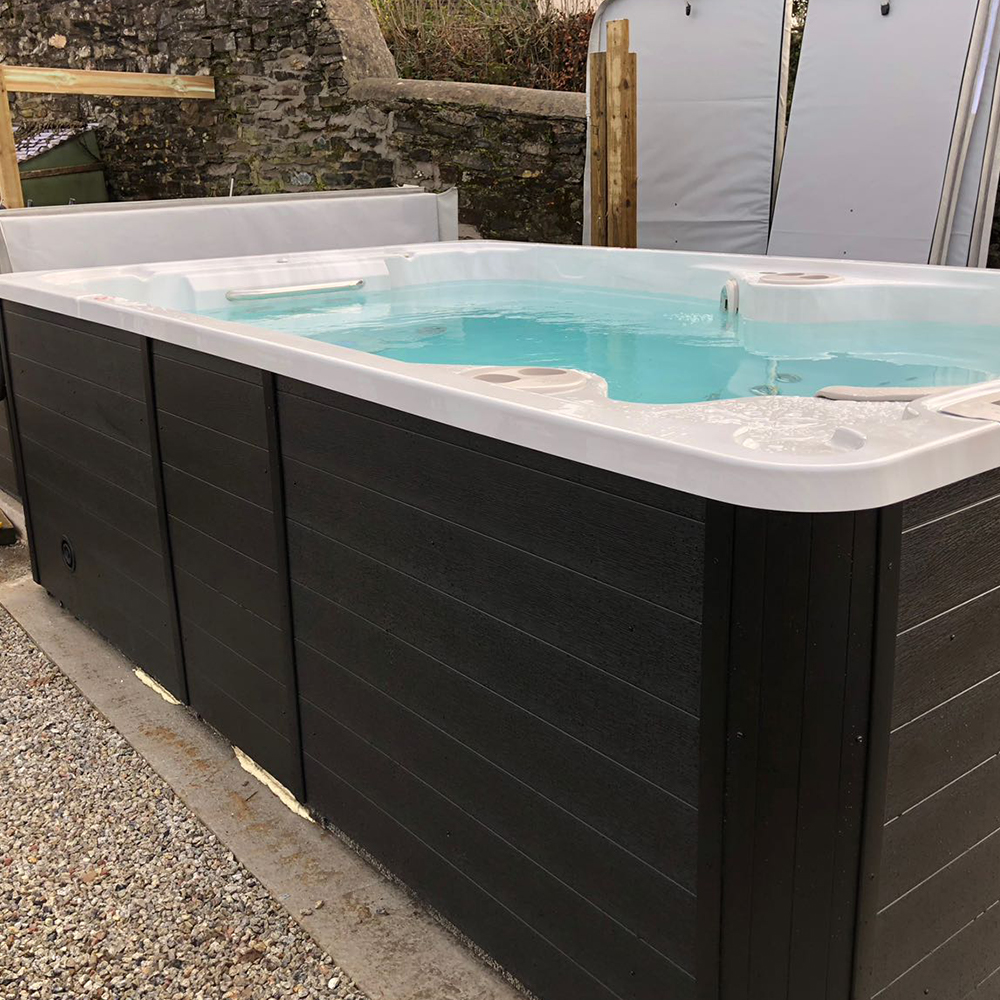 Hydropool swimspa, all of our models are self-cleaning and available from our Bristol showroom.
