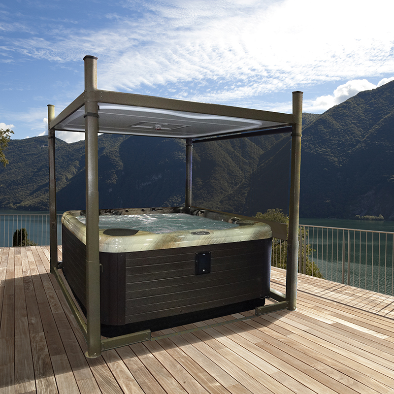 Hydropool Bristol hot tubs & swimspas, at our showroom located between Bristol and Bath we stock Covana covers to help protect your hot tub spa as well as adding a cover for you when bathing in your hot tub.