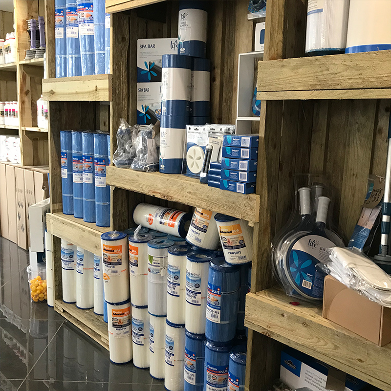 We keep a range of chemicals for your swimspa at our Bristol showroom.