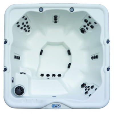 Top view of Cove Jubilee hot tub displaying seating and jet configuration