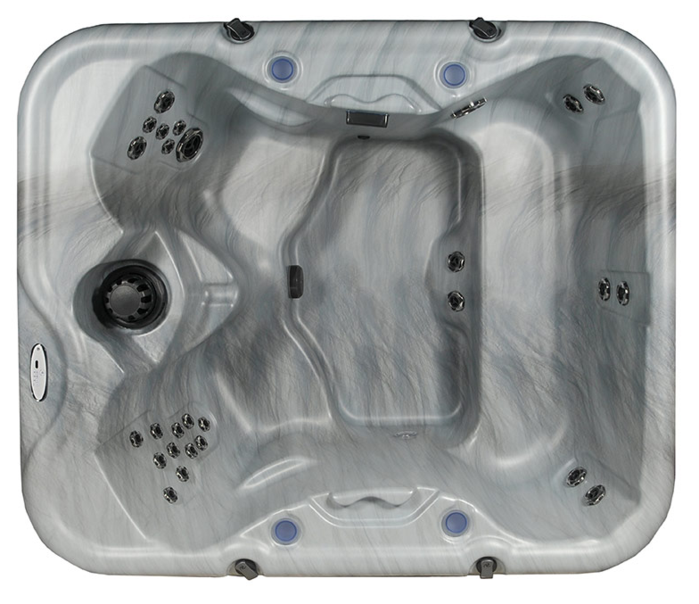 Top view of Cove Retreat hot tub displaying jet and seating configuration